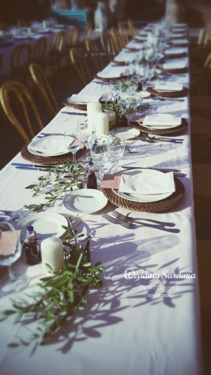 Rustic table set up