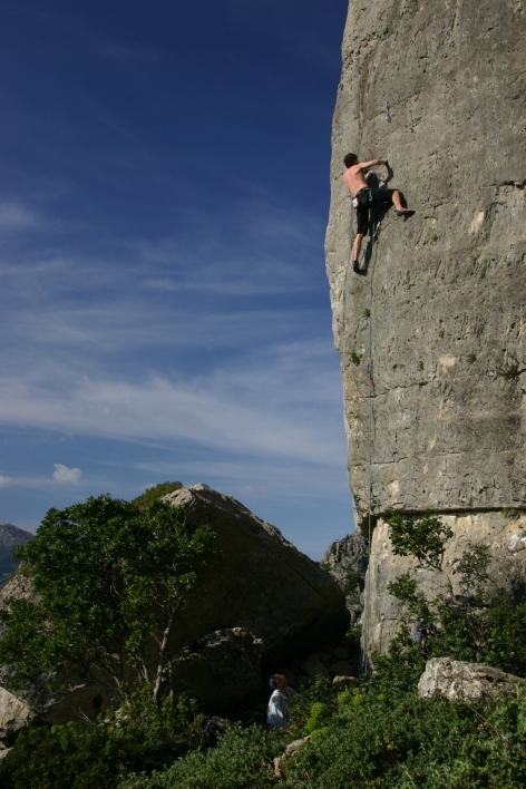 free climbing in sardinia